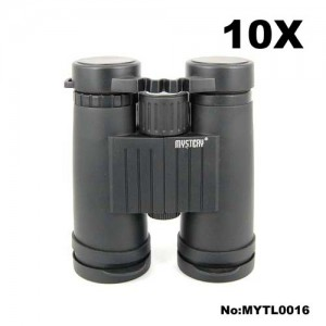 Mystery 10x42 Roof Blue Film Binoculars for Birding & Hunting