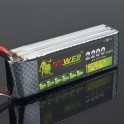 Lion 11.1v 25c 2200mAh Lipo Battery - Helicopter Plan Car