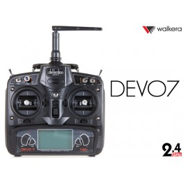 Walkera DEVO 7 7-Ch 2.4Ghz Telemetry Function Radio System w/ RX701 RX Set