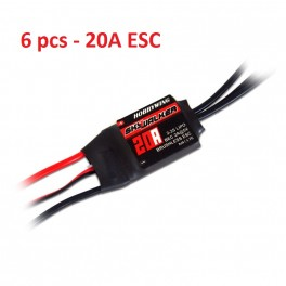 6x HOBBYWING SKYWALKER 20A 2A BEC RC Brushless Speed Controller ESC