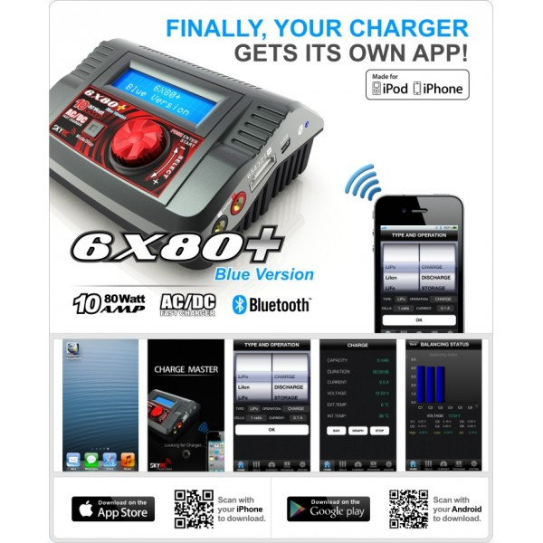 Skyrc 6x80 Battery Charger Bluetooth Version